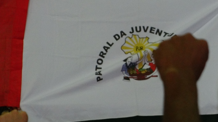 Bandeira da PJR no Acampamento. Foto: Beatriz Marins